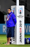 12 October 2019; Samoa head coach Steve Jackson prior to the 2019 Rugby World Cup Pool A match between Ireland and Samoa at the Fukuoka Hakatanomori Stadium in Fukuoka, Japan. Photo by Brendan Moran/Sportsfile