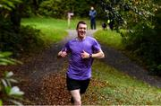 12 October 2019; Patrick Meehan pictured at the Monaghan Town parkrun, Rossmore Forest Park, Gortnakeegan, Monaghan, where Vhi hosted a special event to celebrate their partnership with parkrun Ireland. Vhi ambassador and Olympian David Gillick was on hand to lead the warm up for parkrun participants before completing the 5km free event. Parkrunners enjoyed refreshments post event at the Vhi Rehydrate, Relax, Refuel and Reward areas. parkrun in partnership with Vhi support local communities in organising free, weekly, timed 5k runs every Saturday at 9.30am. To register for a parkrun near you visit www.parkrun.ie. Photo by Piaras Ó Mídheach/Sportsfile