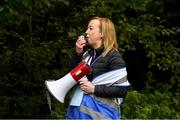 12 October 2019; Event Director AnnaMarie McCleary at the Monaghan Town parkrun, Rossmore Forest Park, Gortnakeegan, Monaghan, where Vhi hosted a special event to celebrate their partnership with parkrun Ireland. Vhi ambassador and Olympian David Gillick was on hand to lead the warm up for parkrun participants before completing the 5km free event. Parkrunners enjoyed refreshments post event at the Vhi Rehydrate, Relax, Refuel and Reward areas. parkrun in partnership with Vhi support local communities in organising free, weekly, timed 5k runs every Saturday at 9.30am. To register for a parkrun near you visit www.parkrun.ie. Photo by Piaras Ó Mídheach/Sportsfile