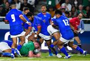 12 October 2019; Tadhg Furlong of Ireland scores his side's second try during the 2019 Rugby World Cup Pool A match between Ireland and Samoa at the Fukuoka Hakatanomori Stadium in Fukuoka, Japan. Photo by Brendan Moran/Sportsfile