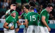 12 October 2019; CJ Stander of Ireland is congratulated by team-mates after scoring his side's sixth try during the 2019 Rugby World Cup Pool A match between Ireland and Samoa at the Fukuoka Hakatanomori Stadium in Fukuoka, Japan. Photo by Brendan Moran/Sportsfile