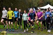 12 October 2019; Attendees in the warm-up before the Monaghan Town parkrun, Rossmore Forest Park, Gortnakeegan, Monaghan, where Vhi hosted a special event to celebrate their partnership with parkrun Ireland. Vhi ambassador and Olympian David Gillick was on hand to lead the warm up for parkrun participants before completing the 5km free event. Parkrunners enjoyed refreshments post event at the Vhi Rehydrate, Relax, Refuel and Reward areas. parkrun in partnership with Vhi support local communities in organising free, weekly, timed 5k runs every Saturday at 9.30am. To register for a parkrun near you visit www.parkrun.ie. Photo by Piaras Ó Mídheach/Sportsfile