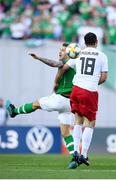 12 October 2019; James Collins of Republic of Ireland in action against Gia Grigalava of Georgia during the UEFA EURO2020 Qualifier match between Georgia and Republic of Ireland at the Boris Paichadze Erovnuli Stadium in Tbilisi, Georgia. Photo by Stephen McCarthy/Sportsfile