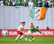 12 October 2019; Conor Hourihane of Republic of Ireland in action against Otar Kakabadze of Georgia during the UEFA EURO2020 Qualifier match between Georgia and Republic of Ireland at the Boris Paichadze Erovnuli Stadium in Tbilisi, Georgia. Photo by Seb Daly/Sportsfile
