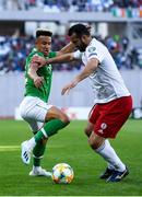 12 October 2019; Gia Grigalava of Georgia in action against Callum Robinson of Republic of Ireland during the UEFA EURO2020 Qualifier match between Georgia and Republic of Ireland at the Boris Paichadze Erovnuli Stadium in Tbilisi, Georgia. Photo by Stephen McCarthy/Sportsfile