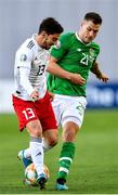 12 October 2019; James Collins of Republic of Ireland in action against Otar Kiteishvili of Georgia during the UEFA EURO2020 Qualifier match between Georgia and Republic of Ireland at the Boris Paichadze Erovnuli Stadium in Tbilisi, Georgia. Photo by Seb Daly/Sportsfile