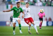 12 October 2019; Callum Robinson of Republic of Ireland in action against Jemal Tabidze of Georgia during the UEFA EURO2020 Qualifier match between Georgia and Republic of Ireland at the Boris Paichadze Erovnuli Stadium in Tbilisi, Georgia. Photo by Stephen McCarthy/Sportsfile