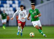 12 October 2019; Callum Robinson of Republic of Ireland in action against Otar Kiteishvili of Georgia during the UEFA EURO2020 Qualifier match between Georgia and Republic of Ireland at the Boris Paichadze Erovnuli Stadium in Tbilisi, Georgia. Photo by Seb Daly/Sportsfile