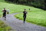 12 October 2019; Attendees pictured at the Monaghan Town parkrun, Rossmore Forest Park, Gortnakeegan, Monaghan, where Vhi hosted a special event to celebrate their partnership with parkrun Ireland. Vhi ambassador and Olympian David Gillick was on hand to lead the warm up for parkrun participants before completing the 5km free event. Parkrunners enjoyed refreshments post event at the Vhi Rehydrate, Relax, Refuel and Reward areas. parkrun in partnership with Vhi support local communities in organising free, weekly, timed 5k runs every Saturday at 9.30am. To register for a parkrun near you visit www.parkrun.ie. Photo by Piaras Ó Mídheach/Sportsfile
