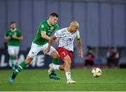12 October 2019; Jaba Kankava of Georgia in action against James Collins of Republic of Ireland during the UEFA EURO2020 Qualifier match between Georgia and Republic of Ireland at the Boris Paichadze Erovnuli Stadium in Tbilisi, Georgia. Photo by Stephen McCarthy/Sportsfile