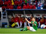 12 October 2019; James Collins of Republic of Ireland appeals for a foul during the UEFA EURO2020 Qualifier match between Georgia and Republic of Ireland at the Boris Paichadze Erovnuli Stadium in Tbilisi, Georgia. Photo by Seb Daly/Sportsfile