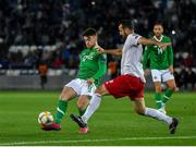 12 October 2019; Aaron Connolly of Republic of Ireland in action against Gia Grigalava of Georgia during the UEFA EURO2020 Qualifier match between Georgia and Republic of Ireland at the Boris Paichadze Erovnuli Stadium in Tbilisi, Georgia. Photo by Seb Daly/Sportsfile