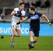 12 October 2019; Diarmuid Connolly of St Vincents in action against Chris Guckian of St Judes during the Dublin County Senior Club Football Championship Quarter-Final match between St Judes and St Vincents at Parnell Park in Dublin. Photo by Matt Browne/Sportsfile
