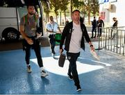 12 October 2019; Republic of Ireland assistant coach Robbie Keane arrives prior to the UEFA EURO2020 Qualifier match between Georgia and Republic of Ireland at the Boris Paichadze Erovnuli Stadium in Tbilisi, Georgia. Photo by Stephen McCarthy/Sportsfile