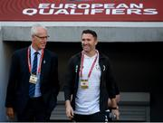 12 October 2019; Republic of Ireland manager Mick McCarthy and assistant coach Robbie Keane prior to the UEFA EURO2020 Qualifier match between Georgia and Republic of Ireland at the Boris Paichadze Erovnuli Stadium in Tbilisi, Georgia. Photo by Stephen McCarthy/Sportsfile