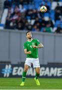 12 October 2019; Shane Duffy of Republic of Ireland during the UEFA EURO2020 Qualifier match between Georgia and Republic of Ireland at the Boris Paichadze Erovnuli Stadium in Tbilisi, Georgia. Photo by Seb Daly/Sportsfile