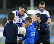 12 October 2019; Diarmuid Connolly of St Vincents with supporters after the Dublin County Senior Club Football Championship Quarter-Final match between St Judes and St Vincents at Parnell Park in Dublin. Photo by Matt Browne/Sportsfile