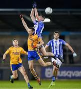 12 October 2019; Aran Waters of Ballyboden in action against Glenn O'Reilly of Na Fianna during the Dublin County Senior Club Football Championship Quarter-Final match between Ballyboden and Na Fianna at Parnell Park in Dublin. Photo by Matt Browne/Sportsfile