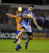 12 October 2019; Michael Darragh MacAuley of Ballyboden in action against Conor McHugh of Na Fianna during the Dublin County Senior Club Football Championship Quarter-Final match between Ballyboden and Na Fianna at Parnell Park in Dublin. Photo by Matt Browne/Sportsfile