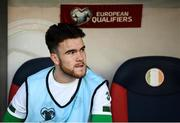 12 October 2019; Aaron Connolly of Republic of Ireland prior to the UEFA EURO2020 Qualifier match between Georgia and Republic of Ireland at the Boris Paichadze Erovnuli Stadium in Tbilisi, Georgia. Photo by Stephen McCarthy/Sportsfile