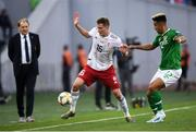12 October 2019; Jemal Tabidze of Georgia and Callum Robinson of Republic of Ireland during the UEFA EURO2020 Qualifier match between Georgia and Republic of Ireland at the Boris Paichadze Erovnuli Stadium in Tbilisi, Georgia. Photo by Stephen McCarthy/Sportsfile