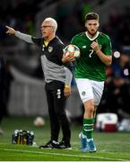 12 October 2019; Matt Doherty of Republic of Ireland and manager Mick McCarthy during the UEFA EURO2020 Qualifier match between Georgia and Republic of Ireland at the Boris Paichadze Erovnuli Stadium in Tbilisi, Georgia. Photo by Stephen McCarthy/Sportsfile