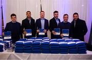 11 October 2019; Leinster players, from left, Hugh O'Sullivan, Adam Byrne, Ciarán Frawley, Will Connors, Bryan Byrne and Fergus McFadden hand out season ticket packs at the Guinness PRO14 Round 3 match between Leinster and Edinburgh at the RDS Arena in Dublin. Photo by Harry Murphy/Sportsfile
