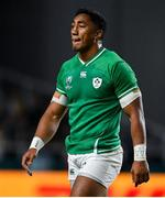 12 October 2019; Bundee Aki of Ireland leaves the pitch after being shown a red card during the 2019 Rugby World Cup Pool A match between Ireland and Samoa at the Fukuoka Hakatanomori Stadium in Fukuoka, Japan. Photo by Brendan Moran/Sportsfile