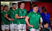 12 October 2019; Tadhg Furlong of Ireland and his team-mates wait to make their way out of th eplayers' tunnel prior to the 2019 Rugby World Cup Pool A match between Ireland and Samoa at the Fukuoka Hakatanomori Stadium in Fukuoka, Japan. Photo by Brendan Moran/Sportsfile
