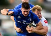 13 October 2019; Dan Sheehan of Leinster A is tackled by Callum Reid of Ulster A during the Celtic Cup Final match between Leinster A and Ulster A at Energia Park in Donnybrook, Dublin. Photo by Ramsey Cardy/Sportsfile