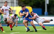13 October 2019; Dan Sheehan of Leinster A is tackled by Andrew Warwick of Ulster A during the Celtic Cup Final match between Leinster A and Ulster A at Energia Park in Donnybrook, Dublin. Photo by Ramsey Cardy/Sportsfile