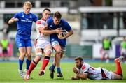 13 October 2019; Jack Dunne of Leinster A is tackled by David O'Connor of Ulster A during the Celtic Cup Final match between Leinster A and Ulster A at Energia Park in Donnybrook, Dublin. Photo by Ramsey Cardy/Sportsfile