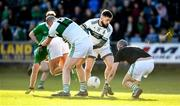 13 October 2019; Ricky Maher, right, and Brian McCormack of Portlaoise in action against Arnie Mahon, left, and Shane Coakley of Killeshin during the Laois County Senior Club Football Championship Final match between Portlaoise and Killeshin at O'Moore Park in Portlaoise, Laois. Photo by David Fitzgerald/Sportsfile