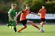 13 October 2019; Evan Ferguson of Bohemians in action against Robert Vasiu of Kerry during the SSE Airtricity League - U17 Mark Farren Cup Final match between Kerry and Bohemians at Mounthawk Park in Tralee, Kerry. Photo by Harry Murphy/Sportsfile