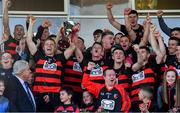 13 October 2019; Ballygunner joint captains Philip Mahony, left, and Conor Power lift the News and Star Cup after the Waterford County Senior Club Hurling Championship Final match between Ballygunner and De La Salle at Walsh Park in Waterford. Photo by Piaras Ó Mídheach/Sportsfile