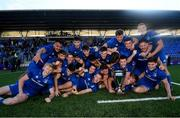 13 October 2019; Leinster A team with the Celtic Cup following the Celtic Cup Final match between Leinster A and Ulster A at Energia Park in Donnybrook, Dublin. Photo by Ramsey Cardy/Sportsfile