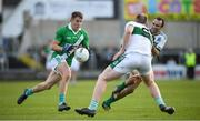 13 October 2019; Barry Ryan of Killeshin in action against Gareth Dillon, right, and Ciaran McEvoy of Portlaoise during the Laois County Senior Club Football Championship Final match between Portlaoise and Killeshin at O'Moore Park in Portlaoise, Laois. Photo by David Fitzgerald/Sportsfile