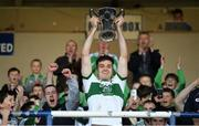 13 October 2019; Portlaoise captain David Seale lifts the cup following the Laois County Senior Club Football Championship Final match between Portlaoise and Killeshin at O'Moore Park in Portlaoise, Laois. Photo by David Fitzgerald/Sportsfile