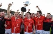 13 October 2019; Padraig Pearses players, including Lorcan Daly, centre, celebrate with the cup following the Roscommon County Senior Club Football Championship Final match between Padraig Pearses and Roscommon Gaels at Dr Hyde Park in Roscommon. Photo by Sam Barnes/Sportsfile