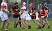 13 October 2019; Billy O'Keeffe of Ballygunner, centre, celebrates winning a free with team-mates Barry Coughlan, left, and Pauric Mahony during the Waterford County Senior Club Hurling Championship Final match between Ballygunner and De La Salle at Walsh Park in Waterford. Photo by Piaras Ó Mídheach/Sportsfile