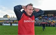 13 October 2019; Padraig Pearses manager Patrick Flanagan reacts following the Roscommon County Senior Club Football Championship Final match between Padraig Pearses and Roscommon Gaels at Dr Hyde Park in Roscommon. Photo by Sam Barnes/Sportsfile