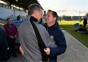 13 October 2019; Sixmilebridge manager Tim Crowe and coach Davy Fitzgerald embrace after during the Clare County Senior Club Hurling Championship Final match between Cratloe and Sixmilebridge at Cusack Park in Ennis, Clare. Photo by Diarmuid Greene/Sportsfile