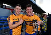 13 October 2019; Brian Corry and Barry Fitzpatrick of Sixmilebridge celebrate after the Clare County Senior Club Hurling Championship Final match between Cratloe and Sixmilebridge at Cusack Park in Ennis, Clare. Photo by Diarmuid Greene/Sportsfile