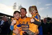 13 October 2019; Paudie Fitzpatrick of Sixmilebridge celebrates with his nephew James, aged 6, and his niece Eabha, aged 4, after the Clare County Senior Club Hurling Championship Final match between Cratloe and Sixmilebridge at Cusack Park in Ennis, Clare. Photo by Diarmuid Greene/Sportsfile