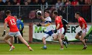 13 October 2019; Darragh Canavan of Errigal Ciaran in action against Stephen O'Donnell of Trillick during the Tyrone County Senior Club Football Championship Final match between Errigal Ciaran and Trillick at Healy Park in Omagh, Tyrone. Photo by Oliver McVeigh/Sportsfile