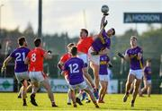 13 October 2019; David O'Gara of Roscommon Gaels and Niall Daly of Padraig Pearses contest a high ball during the Roscommon County Senior Club Football Championship Final match between Padraig Pearses and Roscommon Gaels at Dr Hyde Park in Roscommon. Photo by Sam Barnes/Sportsfile