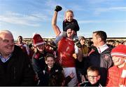 13 October 2019; Niall Finneran of Padraig Pearses celebrates with supporters following the Roscommon County Senior Club Football Championship Final match between Padraig Pearses and Roscommon Gaels at Dr Hyde Park in Roscommon. Photo by Sam Barnes/Sportsfile
