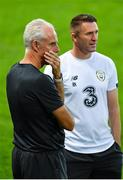 14 October 2019; Republic of Ireland manager Mick McCarthy, left, and assistant coach Robbie Keane during a Republic of Ireland training session at Stade de Genève in Geneva, Switzerland. Photo by Seb Daly/Sportsfile