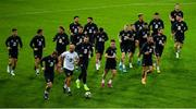 14 October 2019; Republic of Ireland players during a training session at Stade de Genève in Geneva, Switzerland. Photo by Seb Daly/Sportsfile