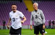 14 October 2019; Republic of Ireland manager Mick McCarthy and assistant coach Robbie Keane during a Republic of Ireland training session at Stade de Genève in Geneva, Switzerland. Photo by Stephen McCarthy/Sportsfile